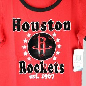 Tops - Houston Rockets Women's Baby Jersey Ringer T-Shirt